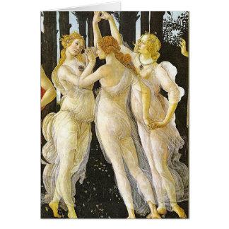 Les trois grâces par Sandro Botticelli Cartes
