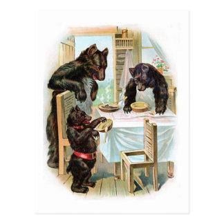 Les trois ours carte postale