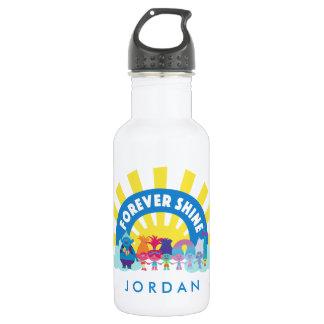 Les trolls | brillent pour toujours bouteille d'eau