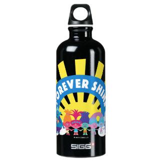Les trolls | brillent pour toujours bouteille d'eau en aluminium