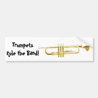 Les trompettes ordonnent la bande ! autocollant de voiture