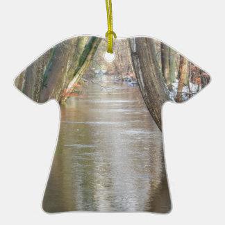 Les troncs et la forêt d'arbre coulent avec la ornement t-shirt en céramique