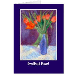 Les tulipes rouges obtiennent la carte bonne,