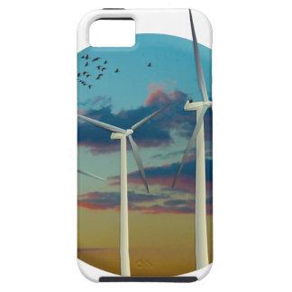 Les turbines de vent ont peint le ciel coque iPhone 5