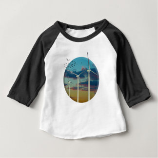 Les turbines de vent ont peint le ciel t-shirt pour bébé
