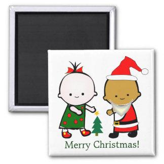 Les vacances badinent Noël Magnet Carré