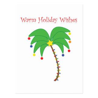 """""""Les vacances chaudes souhaitent"""" la carte postale"""