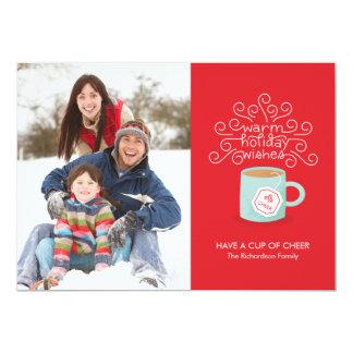 Les vacances chaudes souhaitent le carte photo de carton d'invitation  12,7 cm x 17,78 cm