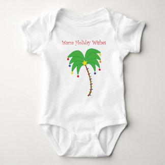 """""""Les vacances chaudes souhaitent"""" le palmier T-shirt"""
