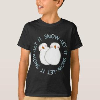 Les vacances de bonhomme de neige de Noël badinent T-shirts