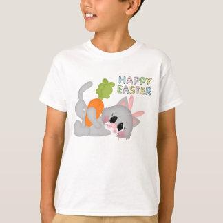 Les vacances de lapin de chat de Pâques badinent T-shirt