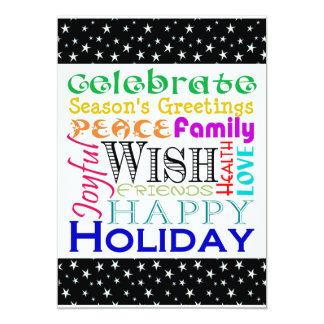 Les vacances expriment la petite carte carton d'invitation  12,7 cm x 17,78 cm