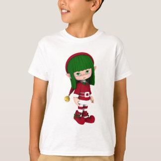 Les vacances mignonnes de Toon Elf badinent le T-shirts