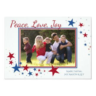Les vacances patriotiques tiennent le premier rôle carton d'invitation  12,7 cm x 17,78 cm