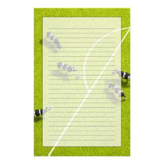 Les vaches jouant au football papier à lettre customisable