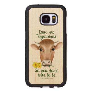 Les vaches sont conception drôle de végétariens coque en bois pour samsumg galaxy s7