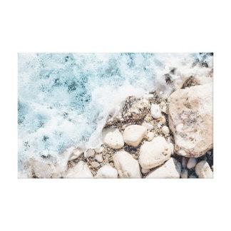 Les vagues   lapide l'océan des roches   de   toiles