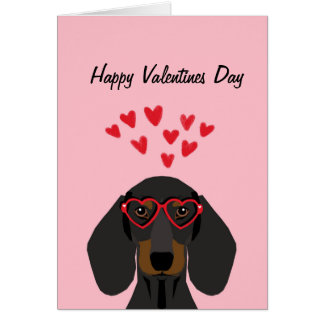 Les Valentines de teckel aiment la carte -