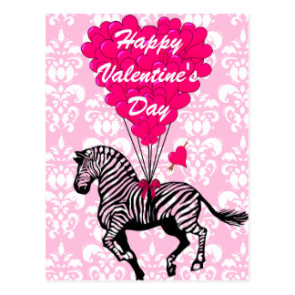 Les Valentines des enfants de zèbre d'amusement Carte Postale