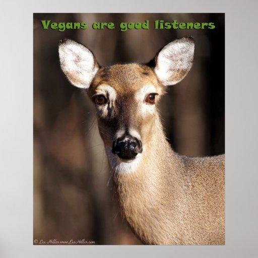 Les végétaliens sont bonne affiche de cerfs commun