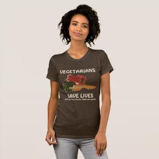 Les végétariens drôles sauvent les vies t-shirt