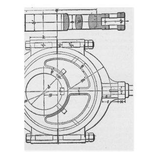 Les vitesses du mécanicien industriel graphiques cartes postales