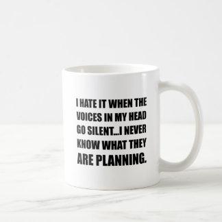 Les voix disparaissent planification silencieuse mug