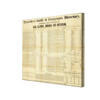 Les voyageurs guident et l'annuaire d'émigrants toiles