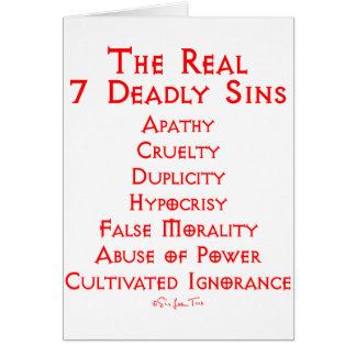 Les VRAIS 7 péchés mortels Carte De Vœux