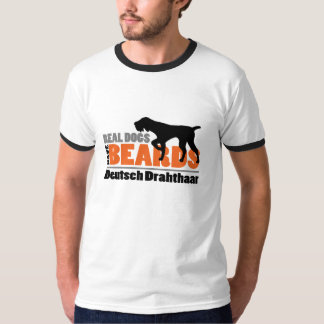 Les vrais chiens ont des barbes - Allemand T-shirts