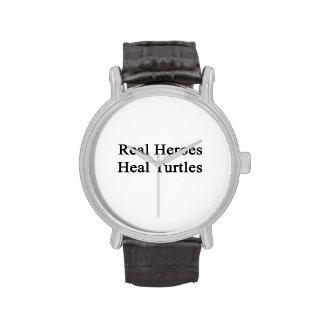 Les vrais héros guérissent des tortues montres cadran