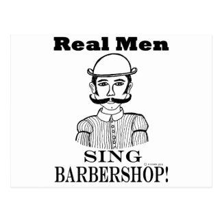Les vrais hommes chantent le raseur-coiffeur ! carte postale