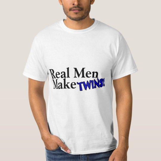 Les vrais hommes font des jumeaux (b) t-shirt