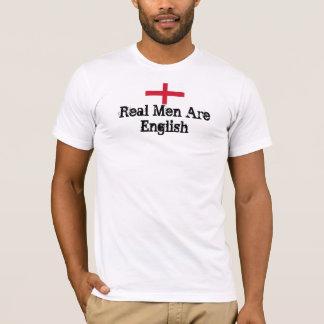 Les vrais hommes sont anglais t-shirt
