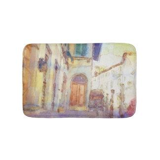 Les vues de Florence ont fait dans l'aquarelle Tapis De Bain