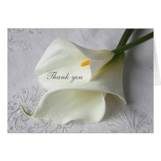 Les zantedeschias blancs sur la toile vous cartes de vœux