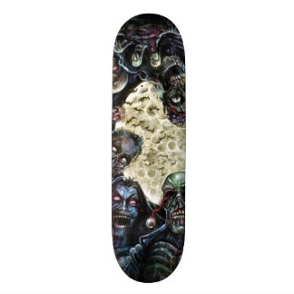 Les zombis attaquent (l'horde de zombi) skateboard old school  21,6 cm