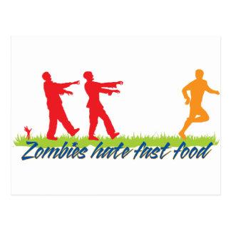 Les zombis détestent les aliments de préparation carte postale