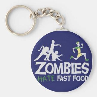 Les zombis détestent les aliments de préparation r porte-clé rond