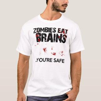 Les zombis mangent des cerveaux… que vous êtes t-shirt