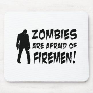 Les zombis ont peur des cadeaux de pompiers tapis de souris