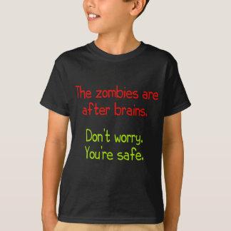 Les zombis sont après des cerveaux t-shirt