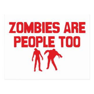 Les zombis sont les gens aussi carte postale