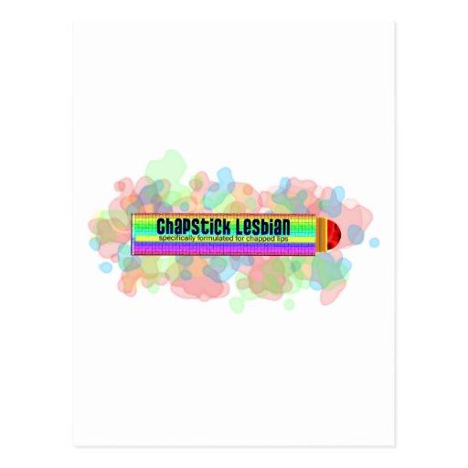 Lesbienne de bâton de pommade pour les lèvres carte postale