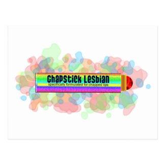 Lesbienne de bâton de pommade pour les lèvres cartes postales