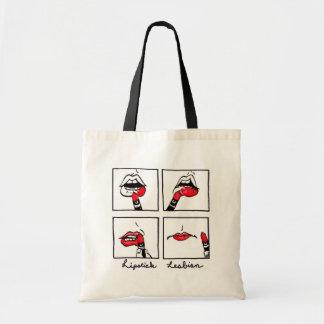 lesbienne fourre-tout de rouge à lèvres sac en toile budget