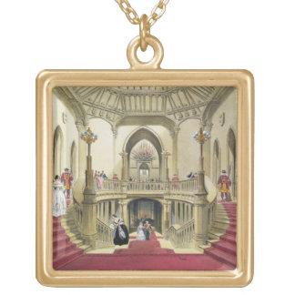 L'escalier grand, château de Windsor, 'd'un Histo Collier Plaqué Or