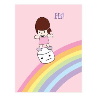 Lesley surfe la carte postale de guimauve de