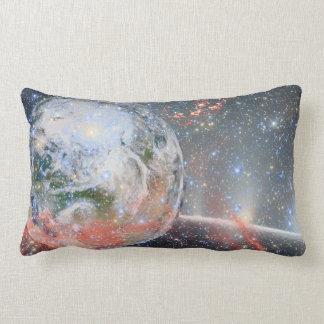 L'espace amortit la terre de planète coussin rectangle