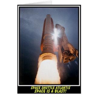 L'espace de l'Atlantide de navette spatiale est Carte De Vœux